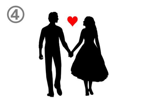 ハート 恋愛重要度 心理テスト