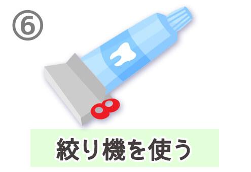 歯磨き粉 チューブ 使い方 三日坊主 絞り機を使う