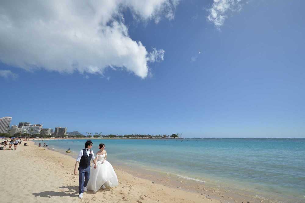 外出規制のない頃のハワイ