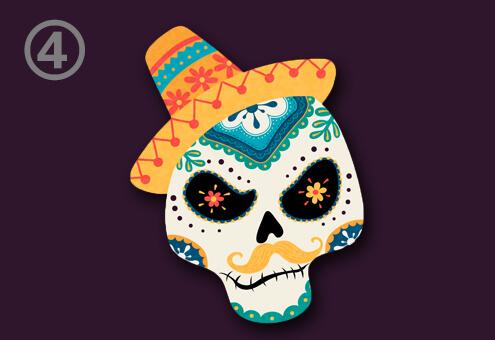 スカル 骸骨 柄 メキシコ 味 お菓子 心理テスト