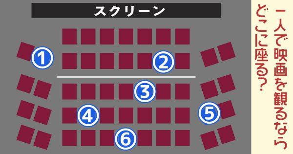 【心理テスト】映画館の席を選ぶとわかる、あなたの「恋愛性格」