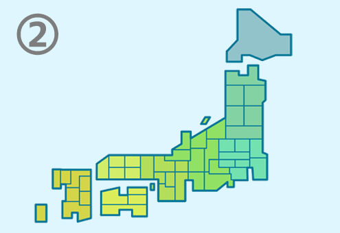 地図 日本列島 働き方 心理テスト