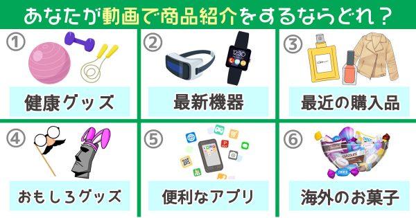 動画 商品紹介 昔話 心理テスト