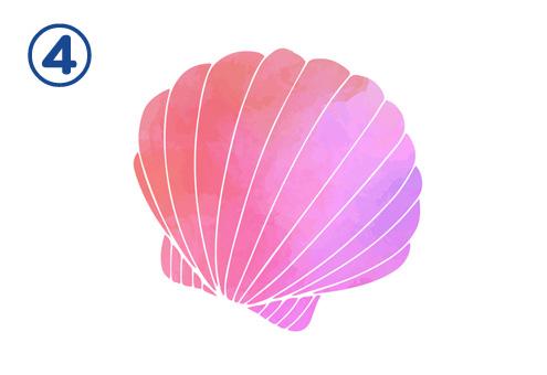 貝殻 グラデーション 仕事 趣味 恋愛 割合