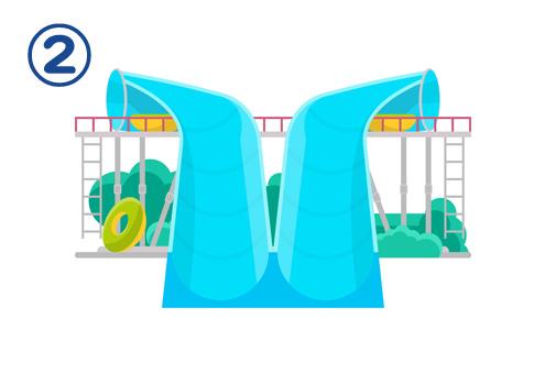 ウォータースライダー プール 夏 お祭り好き度 心理テスト