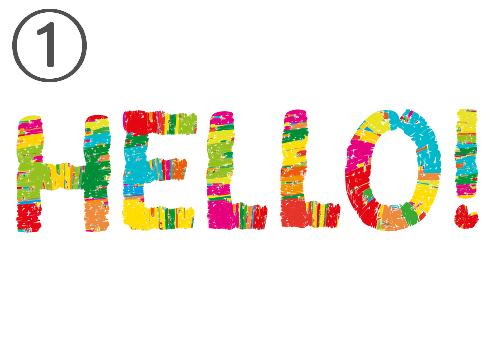 HELLO ロゴ 新しもの好き 心理テスト