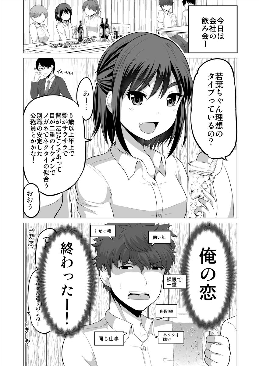 理想の高さに敗北する恋の話01