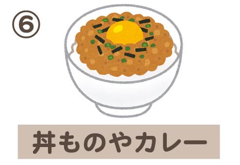 朝ごはん 習い事 心理テスト 丼 カレー
