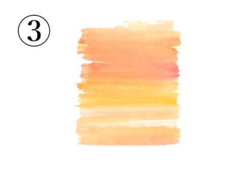 絵の具 グラデーション テンション 心理テスト
