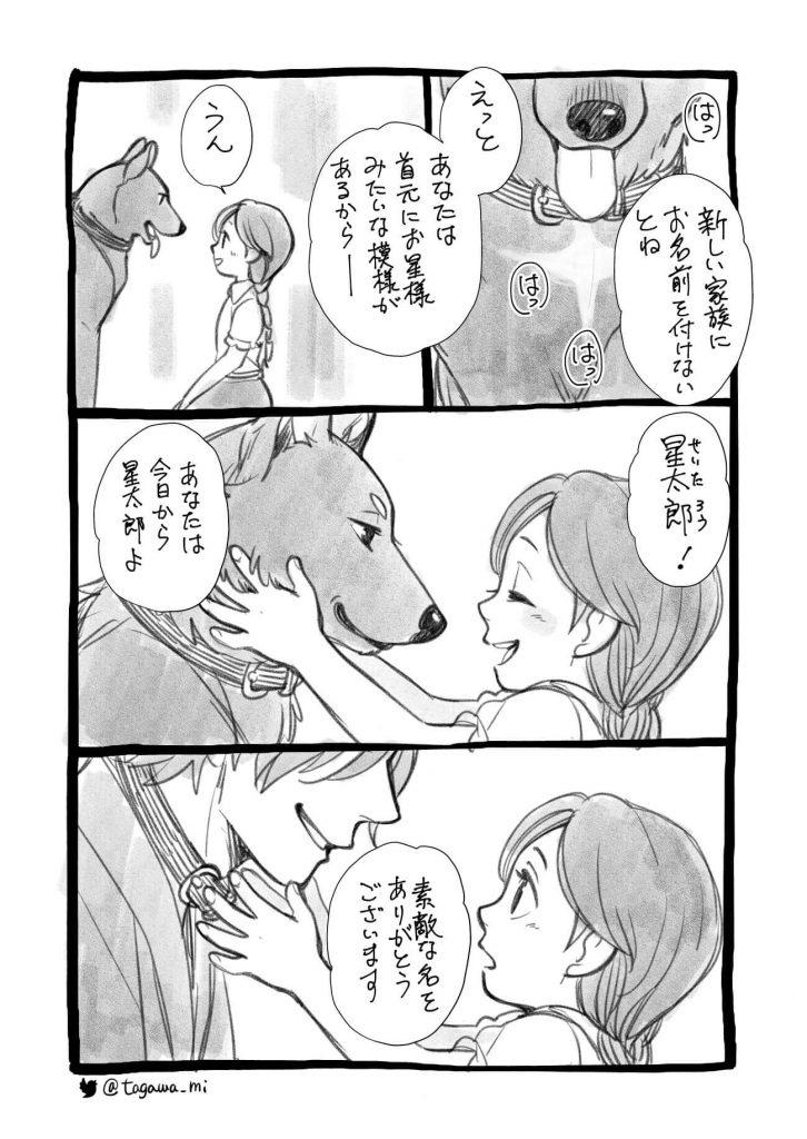 少女とちょっと変わった犬1-2