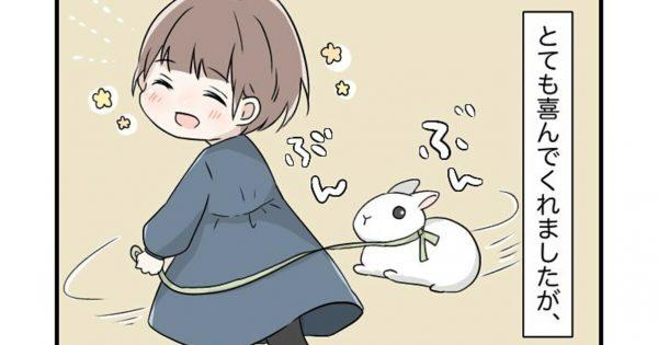 娘が「ウサギのぬいぐるみ」で遊んでるのを、本物のウサギが見てたwww