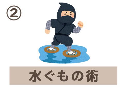 忍者 忍術 お財布 心理テスト 水ぐもの術