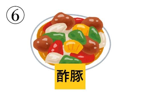 中華料理 キャラの濃さ 心理テスト 酢豚