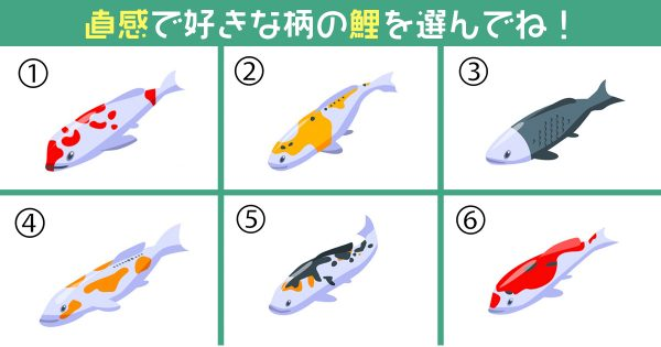 鯉 仕事 ポジション 心理テスト