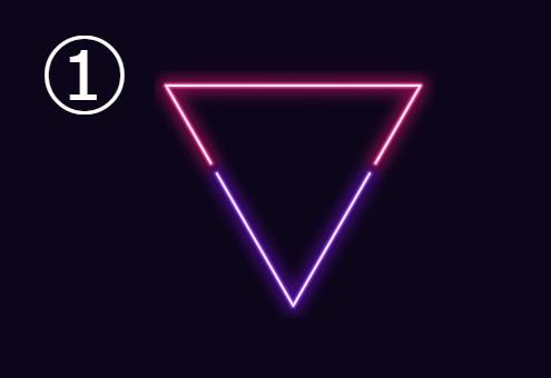 三角 ネオン 擬音語 性格 心理テスト