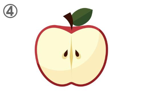 フルーツ 断面 惚れる 心理テスト リンゴ