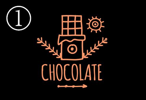チョコレート ロゴ 疲れ 心理テスト