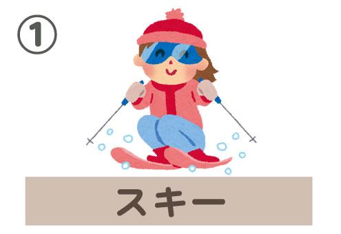 雪 ウィンタースポーツ 伝説 生き物 心理テスト スキー