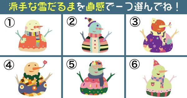 【心理テスト】派手な雪だるまが表す、あなたの「行動年齢」