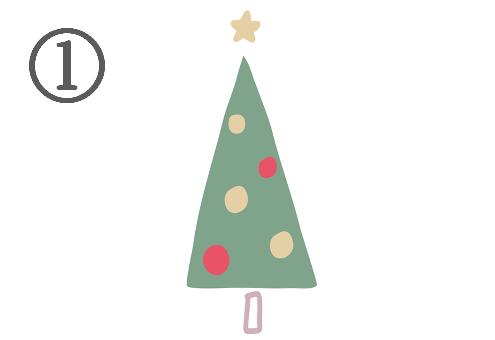 クリスマス ツリー SNS 心理テスト