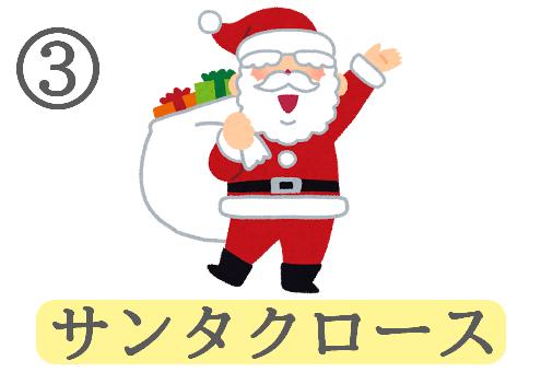 クリスマス イメージ 趣味 心理テスト サンタクロース