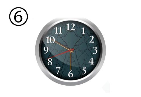時計 睡眠時間 理想 心理テスト