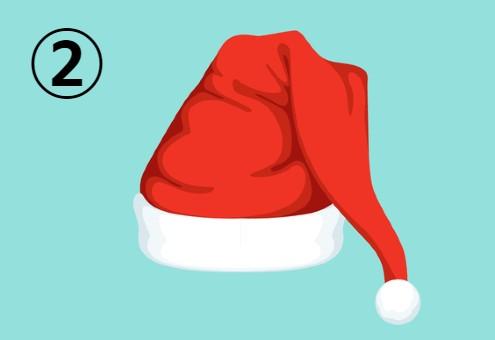 クリスマス サンタ帽 心の若さ 心理テスト