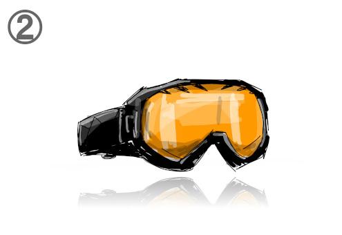 スキー ゴーグル 客観視 心理テスト