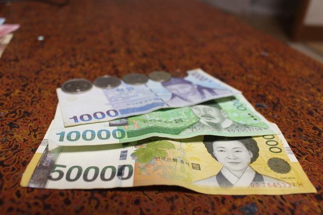 韓国ウォン 3種類の紙幣