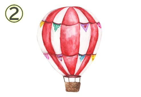 気球 休憩 疲れ 心理テスト