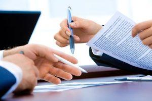 契約交渉の様子