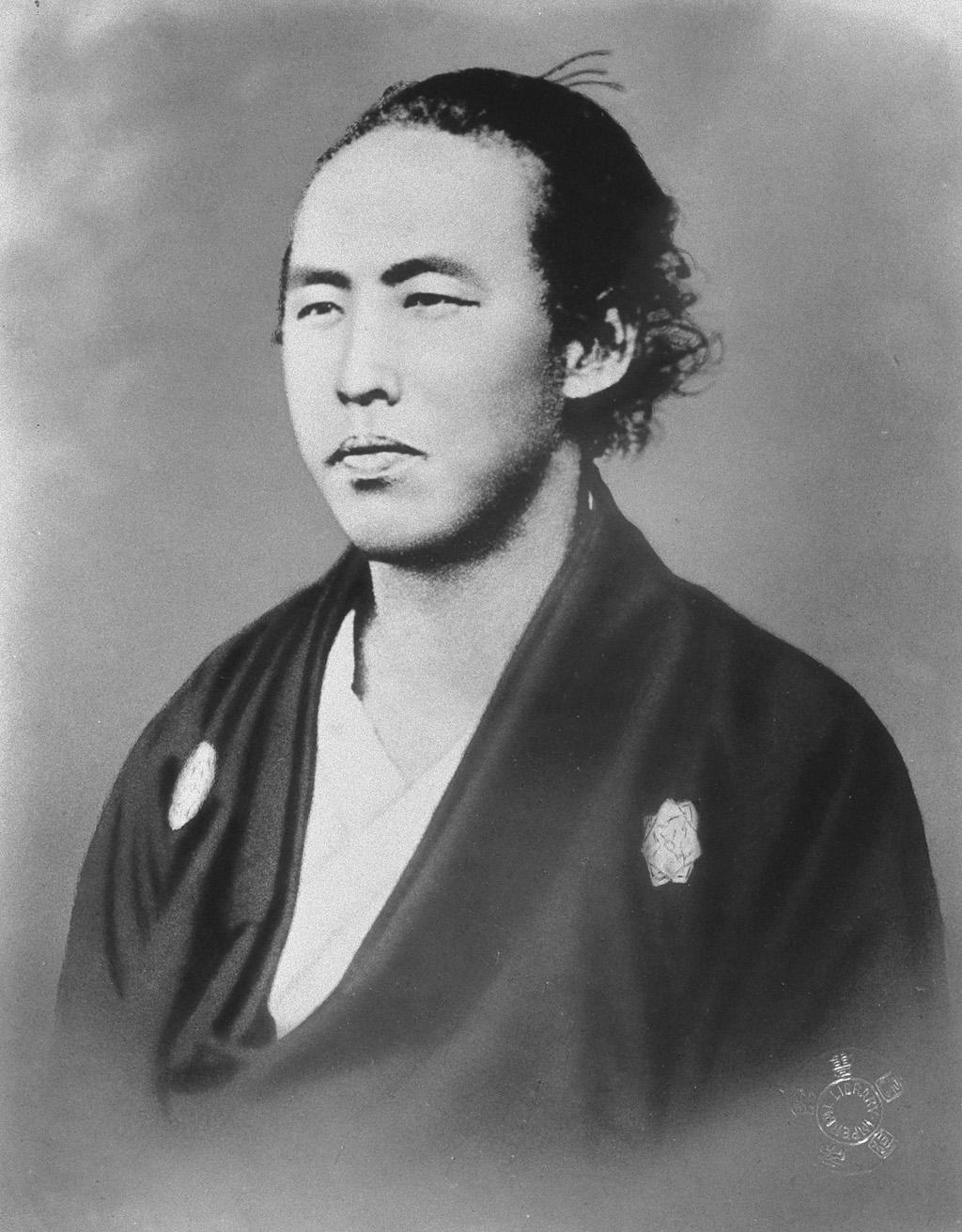 坂本龍馬の白黒写真