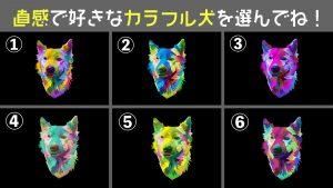 【心理テスト】直感で選んだカラフルな犬でわかる!あなたの「性格」6選