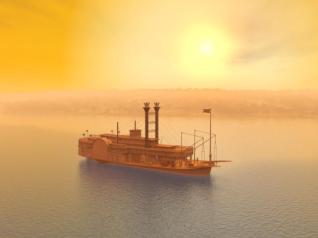 大海を行く船