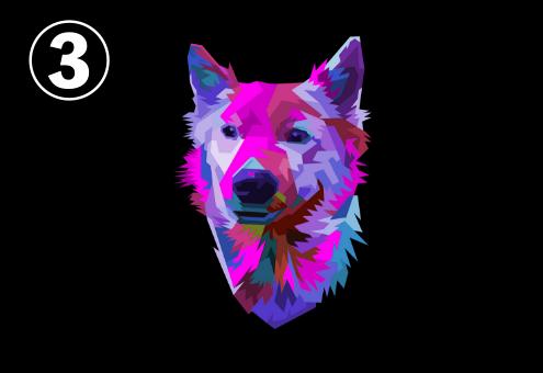 犬 カラフル 性格 心理テスト