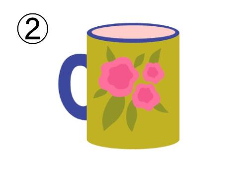 マグカップ 恋愛 積極的 消極的 心理テスト