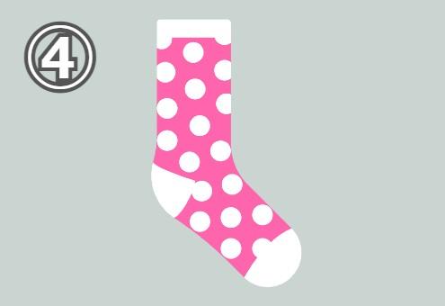 靴下 かわいい一面 心理テスト
