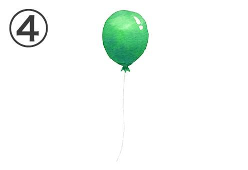 風船 緑 感謝 心理テスト