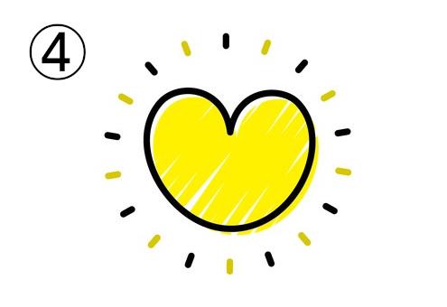 黄色 ハート ワクワク 心理テスト