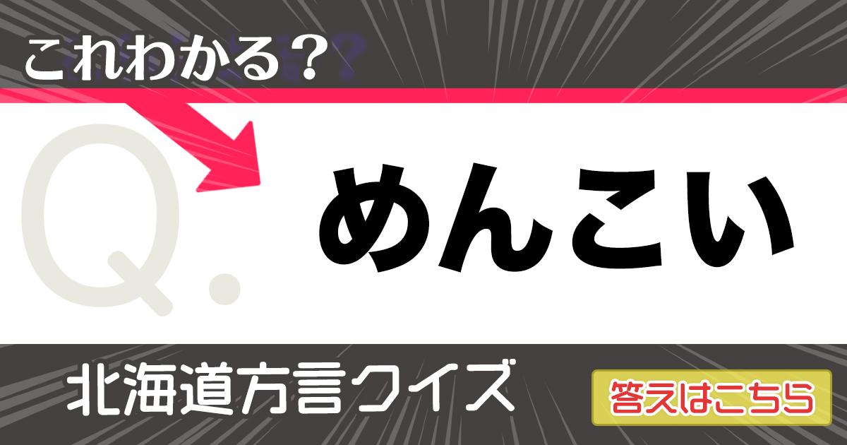 北海道民なら「なまら」簡単な方言クイズ! 10問