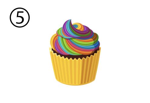 カップケーキ カラフル フィクション ノンフィクション 心理テスト
