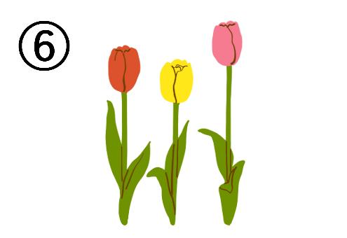 春 ワクワク 心理テスト チューリップ