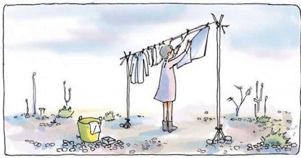 勝者のいない結末に考えさせられる。「洗濯バサミ」同士の紛争を解決したのは…