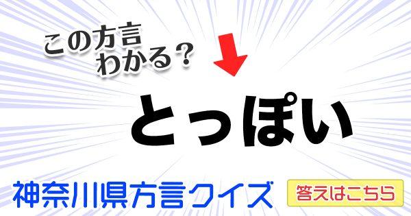 『神奈川県方言クイズ』が神奈川県民でもちょこっと難しい件【全10問】