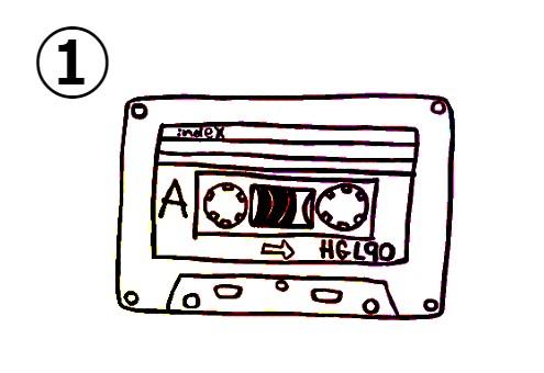 カセットテープ 恥ずかしい経験 心理テスト