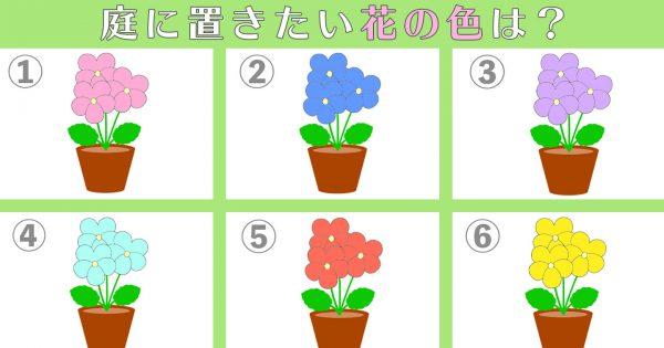 【心理テスト】あなたの「チャレンジ精神の高さ」を診断!好きなお花を選んでね!