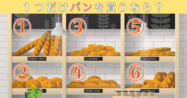 【心理テスト】あなたの「客観性の高さ」を測る性格テスト!食べたいパンを選んでね