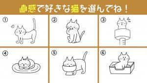 【心理テスト】6匹の猫が教える、今のあなたの「告白成功率の高さ」