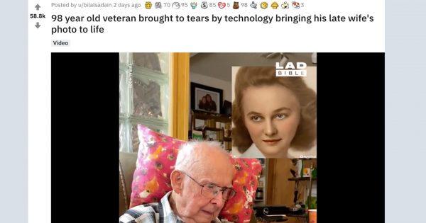 98歳のおじいちゃんの目に涙。「亡くなった妻」が立体写真で蘇った瞬間