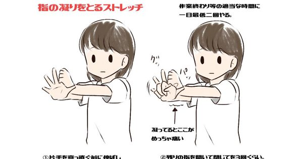【スマホをよく使う方必見】意外と凝っている「指」の1分間ストレッチをご紹介